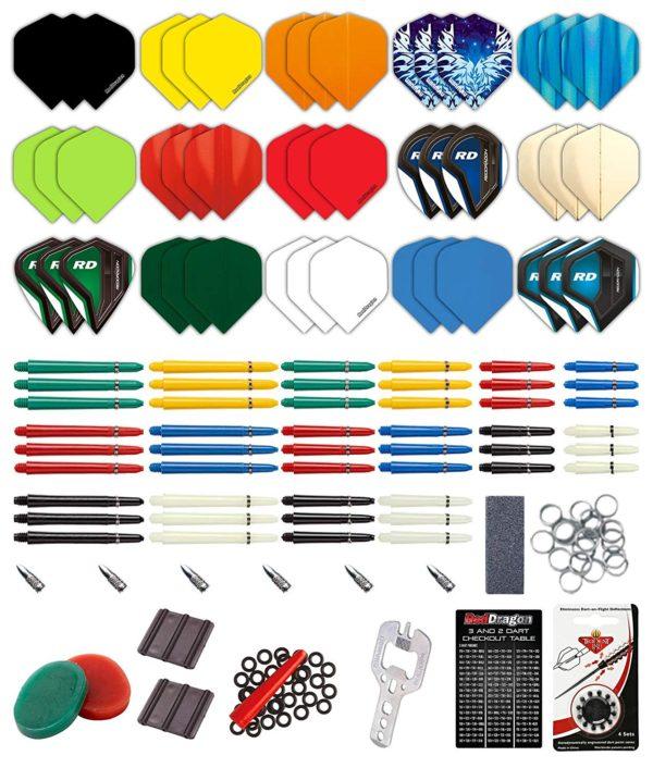 Red Dragon Paquete de Ajuste Personalizado de Dardos de 200 Piezas