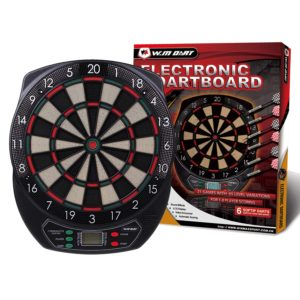 Win.Max Diana electrónica, clásica para 8 Jugadores, 21 Juegos, 65 Variantes, Pantalla LCD